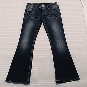 Silver Tuesday Women Dark Washed Blue Jeans